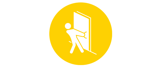 No more struggling with heavy fire doors